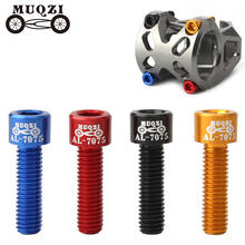 Details about  /4 X M5*17mm Aluminum Alloy Cycling Bicycle Handlebar Stem Screw Bike Fixed Gear