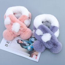 Patchwork Faux Fur Scarves Women Girls Winter Autumn Warm Fur Ring Neck Scarf For Female Soft Lady Coat & Jackets Outerwear