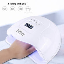 72W Sun X5 plus LED Uv Lamp Nails Dryer Lacquer Curing Light  Manicure With Smart LCD Display For All Kinds Of Gel Polish