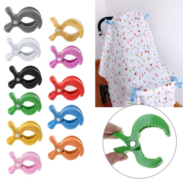 Free Shipping Colorful New Baby Car Seat Accessories Toy Lamp Pram Stroller Peg To Hook Cover Blanket Clips new