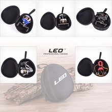 LEO Portable EVA Fishing Reel Bag Protective Case Cover for Drum/Spinning/Raft Reel Fishing Pouch Bag Fishing Accessories