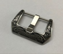 Watch accessories 22mm High quality 316L Stainless steel vintage engraved Watch buckle