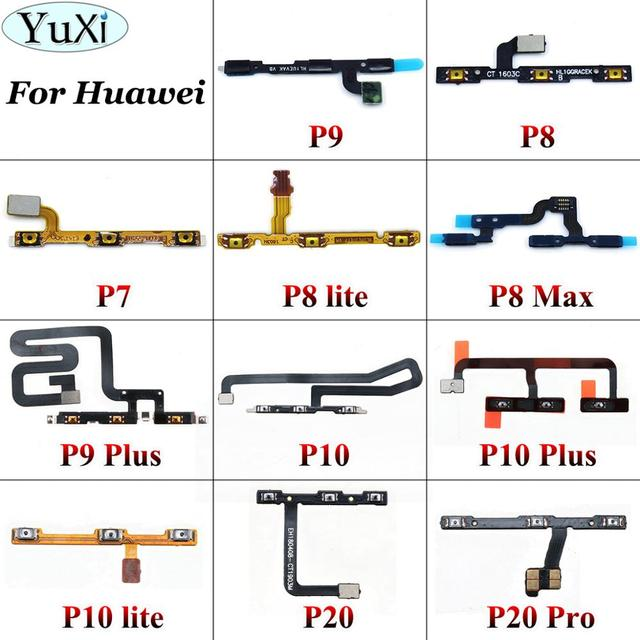 YuXi Replacement Power On Off Volume Up Down Button Key Flex Cable For Huawei P7 P8 P9 P10 P20 Lite Pro Plus for P8 max