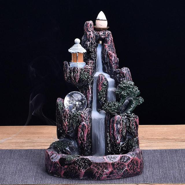 Backflow Censer Diffuser Backflow Incense Burners Holder Buddhist Zen Censer Medication Home Decor