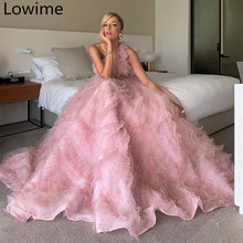 New Fairy Pink Tulle Celebrity Dress 2019 One Shoulder Elegant Runaway Red Carpet Gowns Long Evening Prom Party Vestidos Custom