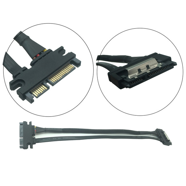 30cm/50cm 22Pin(15+7) Male To 22 pin Female SATA Serial ATA Data Power Cable Extension Connector Cord SATA Cables