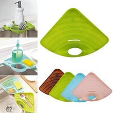 Multifunctional Draining Rack Sink Corner Sponge Storage Shelf For Kitchen Oct998 Buy Cheap In An Online Store With Delivery Price Comparison Specifications Photos And Customer Reviews