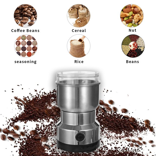 Electric Coffee Bean Grinder 300ml Stainless Steel Electric Grinder Blender Home Coffee Machine Kitchen Tool