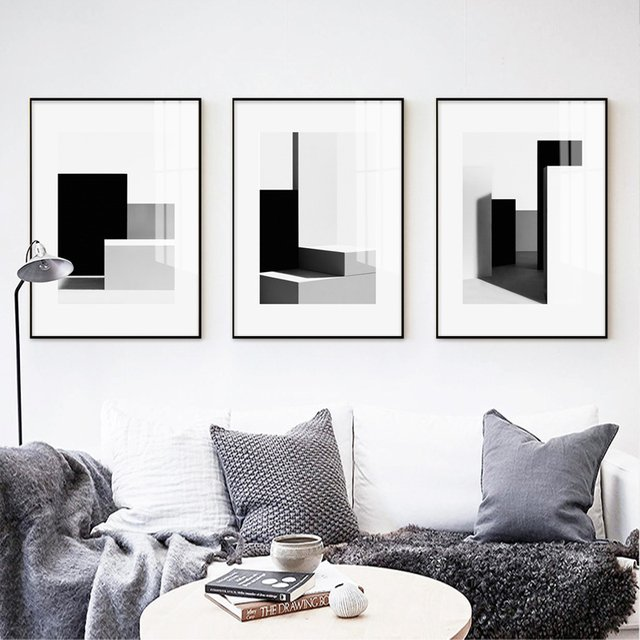 Abstract Poster Canvas Painting Print Living Room Bedroom Modern Black White Light Shadow Picture Wall Art Decoration Home Decor Buy Cheap In An Online Store With Delivery Price Comparison Specifications Photos