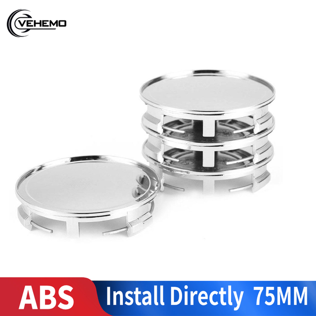 """Vehemo Car 4pcs Wheel Hub Cover Vehicle Center Caps Center Cover Replaceable Dedicated Hub 75mm 3"""" for Mercedes Benz"""