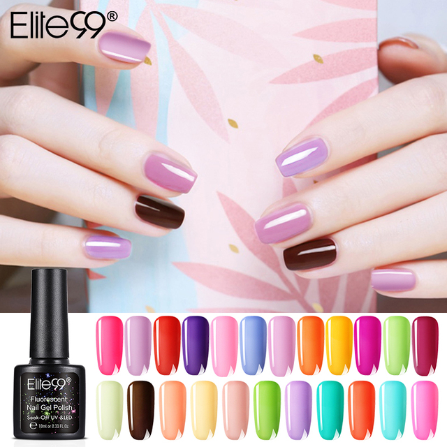 Elite99 Gel Polish Set UV Vernis Semi Permanent Primer Top Coat 10ML Nude Gel Varnish Nail Art Manicure Gel Lak PolishesNails