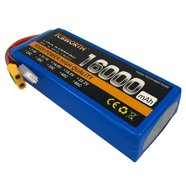 3S RC LiPo Battery 11.1V 16000mAh 25C 3S For RC Airplane Car Dron Quadrotor Boat Aircraft Multirotor FPV Hexacopter Octocopter