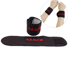 1 Pair  Health Care Tourmaline Self Heating Magnetic Therapy Wrist Brace Protection Belt Spontaneous Heating Massager