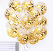 Net Red Hot Selling Transparent Sequin Balloon Birthday Wedding Decoration Supplies Mall Opened Activity Decorative