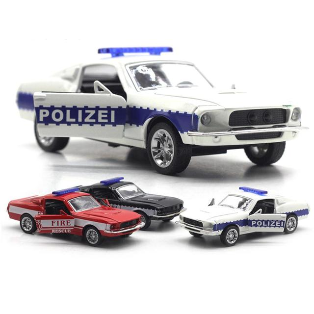 1Pc Simulation Mini Diecast Polices Car Pull back Model with Music Light Sound Education Kids Toy