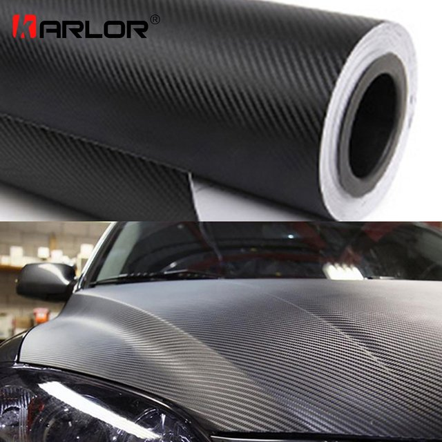 30cmx127cm 3D Carbon Fiber Vinyl Film Car Wrap Sheet Roll Film Car stickers and Decals Motorcycle Car Styling Accessories