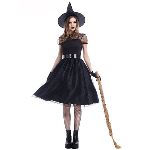 Costume Halloween 3xl.Women Black Witch Costume Halloween Purim Witch Role Playing Fairy Tale Performance Costume Woman Carnival Fantasia Dress M 3xl Buy Cheap In An Online Store With Delivery Price Comparison Specifications Photos And