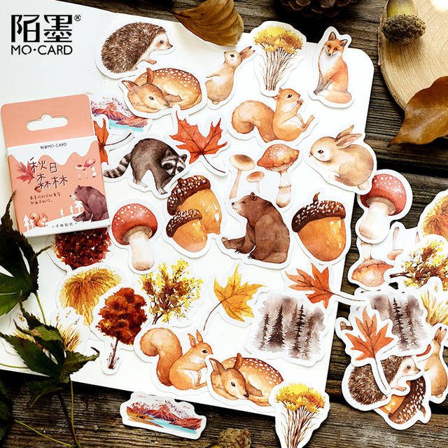 45pcs/pack Winter Totem Stationery Stickers Pack Posted It Kawaii Planner Scrapbooking Memo Stickers Escolar School Supplies