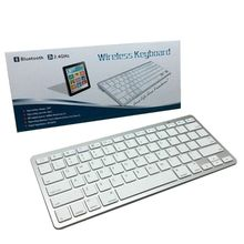 Universal Ultra Thin Wireless Bluetooth Silent Thin Mini Keyboard for PC Laptop Notebooks Aluminum Alloy