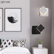 Round Square Led Wall Lamp For Bedroom Living Room White Black Sconce Wall Lights 360 Degrees Rotatable Metal Fixtures Buy Cheap In An Online Store With Delivery Price Comparison Specifications