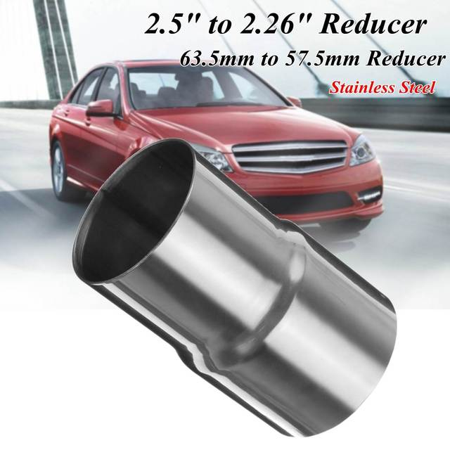 """63-57mm Car Exhaust Muffler Pipe Reducer Connector 2.5""""-2.26"""" Auto Exhaust Reducer Connector Pipe Adapter"""