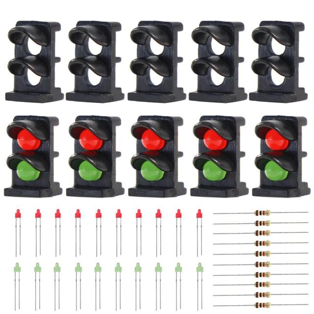 10 sets N Z Scale Target Face With 2 LEDs Red/Green 1:150 Railway Dwarf signal  2 Aspects JTD14