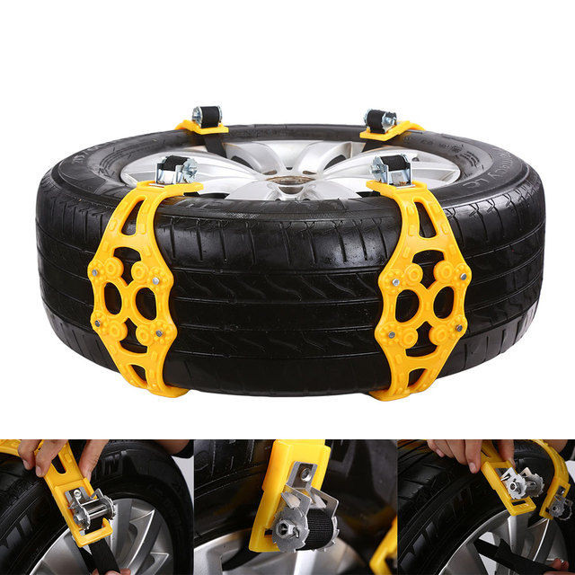 TPU Alloy Tire Chain Accessories Belt Snow Chain Anti Skid Tie with Wrench Mud Chain