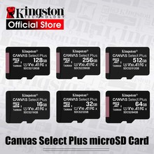 Карта памяти Kingston Micro SD для телефона, класс 10, Micro SD, SD, TF карты на 128 Гб, 32 Гб, 64 Гб, 256 Гб, 16 Гб, 8 Гб, 512 Гб