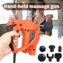Deep Muscle Massager 6Heads Fitness Guns Practical Section Handheld Cordless Percussive Vibration Therapy Deep Massager Electric