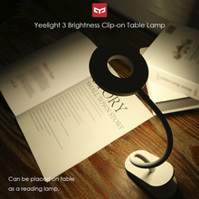 Yeelight Clip-on Table Lamp Cordless Led Desk Lamp Portable Touching Control 3 Brightness Level Eye Protect Light For Xiaomi