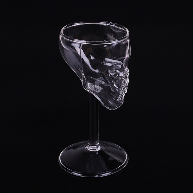 Transparent Beer Wine Cup Bottle Glass Skull Cup Red Wine Sober Kitchen Accessories High Cocktail Glasses Bar Decoration Univers
