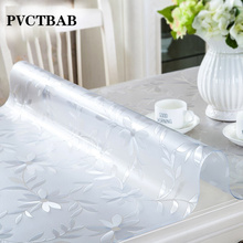 PVC Tablecloth Kitchen Tablecloth Oil Glass Cloth Soft Cloth 1.0mm Customizable Tablecloth Transparent Waterproof Tablecloth