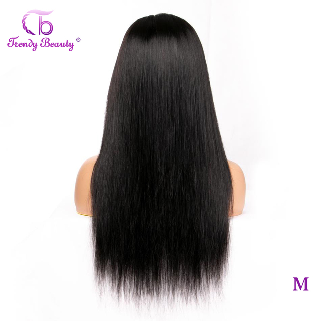 Trendy Beauty Hair Peruvian Straight Lace Front Wig Remy Lace Frontal Wig 150% Density 13X4 Lace Front Human Hair Wigs
