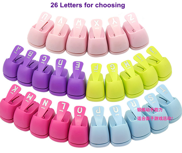 1PC Alphabet shaped save power choosing 26 for Free paper/eva Ship punches punch Handmade hole letters craft Scrapbook punchers