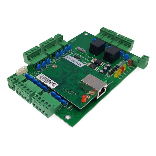 TCP/IP Two Door access control access board expansion I/O board high-power 120W 10A power supply touch /IR exit button ID tags