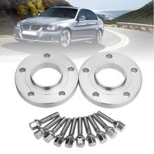2PCS 10/12/15/20mm 5x120 PCD Wheel Spacers Hubcentric Kit with Blot Alloy For BMW 1 3 5 6 7 8 Series Z3 Z4 Z8 E90