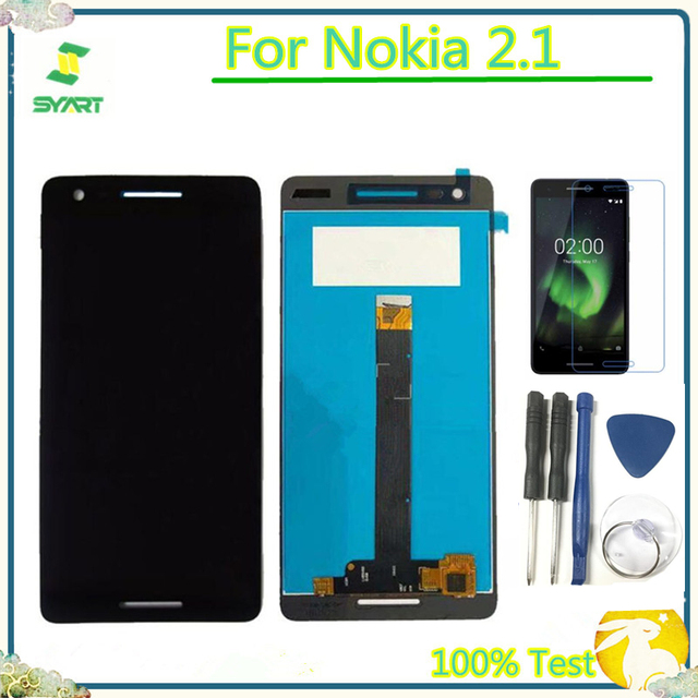 LCD Display For Nokia 2.1 Digitizer Assembly 5.5''  Screen Assembly TA-1080 TA-1084 A-1086 TA-1092 For Nokia 2.1 Touch Screen