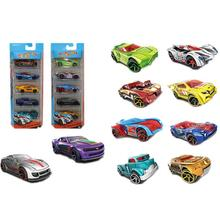 5pcs 1:64 Simulation Toy Multi Style Sliding Alloy Mini Car Model Small Sports Car Alloy Car Model Boy Gift Children's Toys