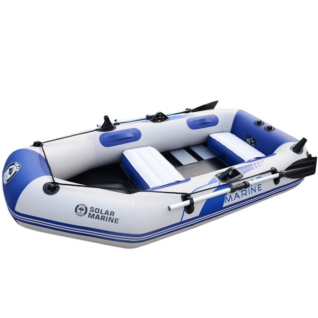 3 Person 230cm Inflatable Rowing Boat High Quality PVC Kayak Canoe Raft Dinghy Hovercraft Fishing Diving Ship Board Bottom