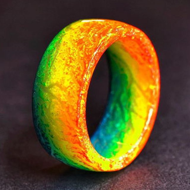 Jewelry Luminous Rings Fluorescent Jewelry Trend Resin Glow In The Dark Finger Ring Band Halloween Party 1pcs Wholesale Etsy