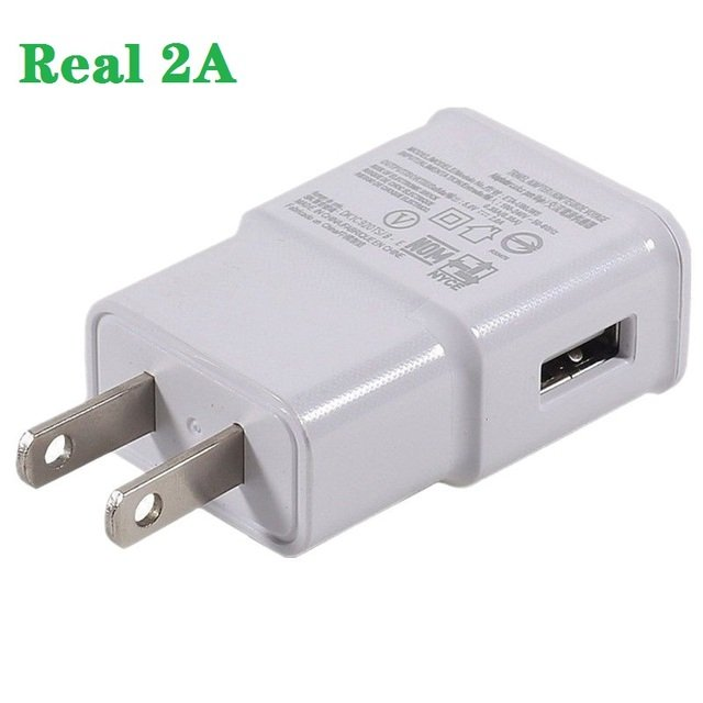 redbearlin 500pcs/lot 5V 2A Real EU US Travel Wall Adapter Charger For Samsung Galaxy S6 S3 S5 I9500 N7100 i9300 i9220 Note 4