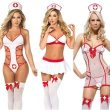 M-3XL Women Lenceria Sexy Erotic Lingerie Porno Baby Doll Plus Size Cosplay Sex Clothes Dress Nurse Uniform Costumes Underwear