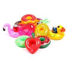 Mini Floating Cup Holder Summer Pool Swimming Water Toys Party Beverage Boats Baby Pool Toys Inflatable Flamingo Drink Holder