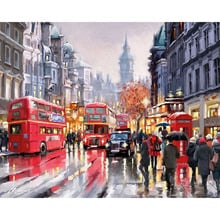 GATYZTORY DIY Digital Oil Painting By Numbers With Frame Home Decor Wall Art Pictures For Living Room Coloring Paint