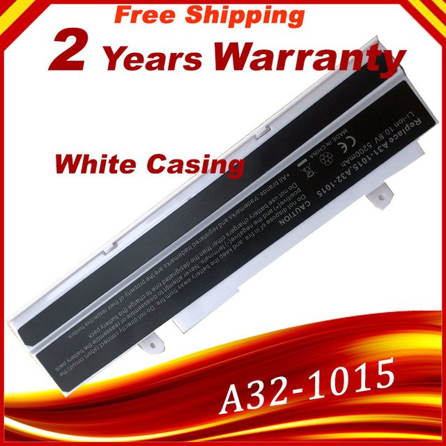 White Laptop battery for ASUS Eee PC 1015,1015P,1015PE,1015PN,1015T,1016,1016P,1215,1215N,A31-1015, AL31-1015