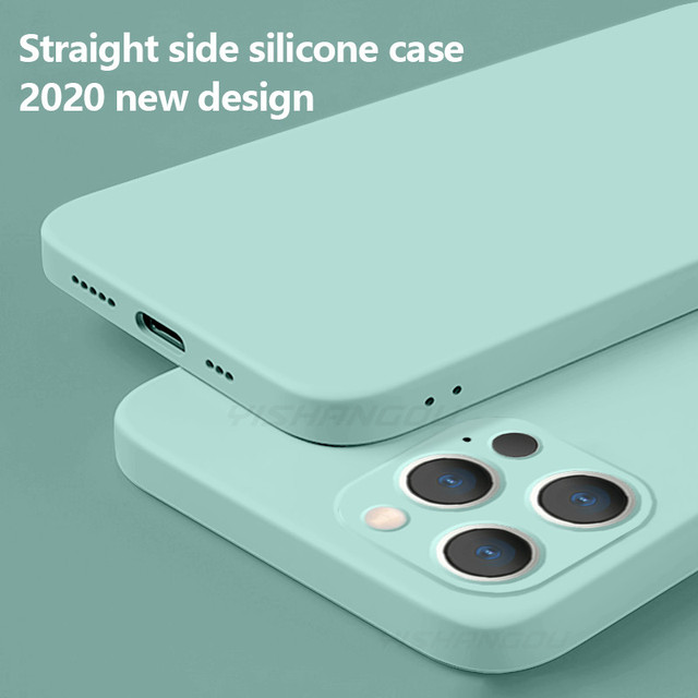 Luxury Liquid Silicone Case on For iPhone 11 12 Pro Max SE 2 2020 XS Max XR X 10 7 8 6 6S Plus Cover Soft Camera Protection Case