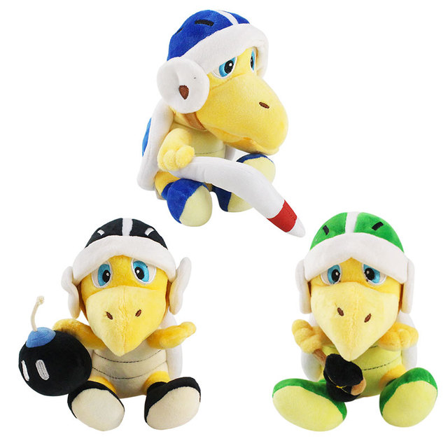 20cm Super Mario Bros Bomb Bro Koopa Troopa Boomerang Hammer Soft Stuffed Plush Toy Baby Doll Gifts for Children