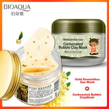 BIOAQUA Eye Patches Gold Osmanthus Eye Mask Carbonated Bubble Clay Face Mask Care Remove Dark Circles Anti-Aging Eye Bags Whiten