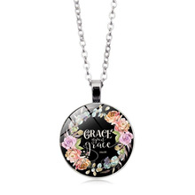 LISTE&LUKE Bible Verses Scripture Necklace Silver Plated Pendant Necklace For Christian Quote Jewelry Party Favor Gifts NL0806