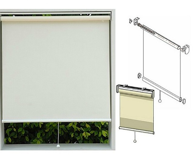 Free Shipping Blackout Fabric Roller Shading High Quality Spring Roller Blinds